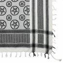 Kufiya - Pentagram white - black - Shemagh - Arafat scarf