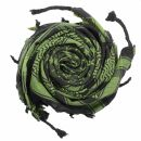 Palituch - Sterne schwarz - grün-olivgrün -...
