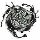 Kufiya - Checked pattern small black - white - Shemagh -...