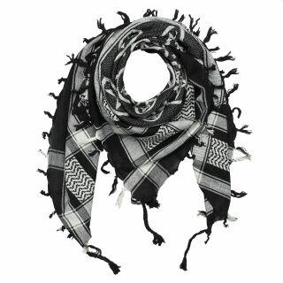Kufiya - Pentagram black - white - Shemagh - Arafat scarf