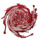 Palituch - Sterne rot - weiß - Kufiya PLO Tuch