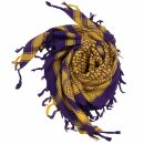 Kufiya - purple - yellow - Shemagh - Arafat scarf