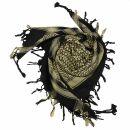Kufiya - black - beige - Shemagh - Arafat scarf