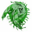 Kufiya - green-luminous green - white - Shemagh - Arafat...