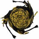 Kufiya - black - yellow - Shemagh - Arafat scarf