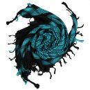 Kufiya - black - turquoise - Shemagh - Arafat scarf