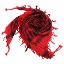 Kufiya - red - black - Shemagh - Arafat scarf