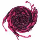 Kufiya - pink - black - Shemagh - Arafat scarf