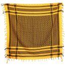 Kufiya - orange-mandarin - black - Shemagh - Arafat scarf