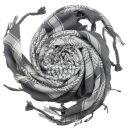 Kufiya - grey - white - Shemagh - Arafat scarf