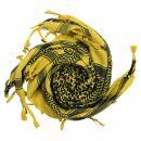 Kufiya - brown-orchre brown - black - Shemagh - Arafat scarf
