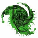 Kufiya - green-light green - black - Shemagh - Arafat scarf