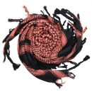 Kufiya - black - terracotta - Shemagh - Arafat scarf