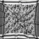 Kufiya - camouflage pixels - white - black - Shemagh - Arafat scarf