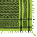 Kufiya - green-neon green - black - Shemagh - Arafat scarf