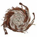 Kufiya - brown - white - Shemagh - Arafat scarf