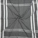 Kufiya Desert - white - black - Shemagh - Arafat scarf