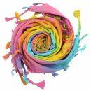 Baumwolltuch fein & dicht gewebt - Rainbow Spiral -...