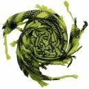 Kufiya - Pentagram green-bright green - black - Shemagh -...