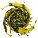Kufiya - Hearts yellow - black - Shemagh - Arafat scarf