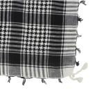 Kufiya - basic woven white - black - Shemagh - Arafat scarf