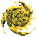 Kufiya - Skulls small yellow - black - Shemagh - Arafat...