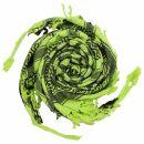 Kufiya - Hearts green-bright green - black - Shemagh -...