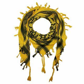 Kufiya - Pentagram yellow - black - Shemagh - Arafat scarf