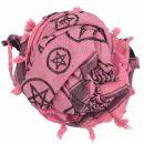 Kufiya - Pentagram pink - black - Shemagh - Arafat scarf