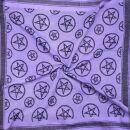 Kufiya - Pentagram purple-light purple - black - Shemagh...