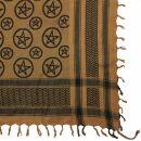 Kufiya - Pentagram brown - black - Shemagh - Arafat scarf
