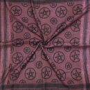 Kufiya - Pentagram red-bordeaux - black - Shemagh - Arafat scarf