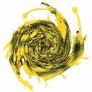 Kufiya - Skulls chequered yellow - black - Shemagh -...