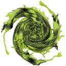 Kufiya - Skulls chequered green-bright green - black -...