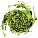Kufiya - Skulls small green-bright green - black -...