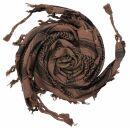 Kufiya - Skulls with sabre brown - black - Shemagh -...
