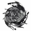 Kufiya - Skulls with bones big black - white - Shemagh -...