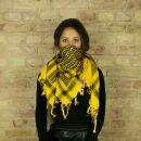 Palituch - gelb - schwarz - Kufiya PLO Tuch