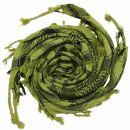 Kufiya - Hearts green-olive green - black - Shemagh -...