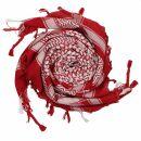 Kufiya - red - white - Shemagh - Arafat scarf