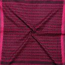 Kufiya - magenta pink - black - Shemagh - Arafat scarf