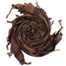 Kufiya - Skulls chequered brown - black - Shemagh -...