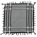 Bandana - light Kufiya - black - white - 55x55 cm -...