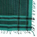 Kufiya - green-turquoise green - black - Shemagh - Arafat...
