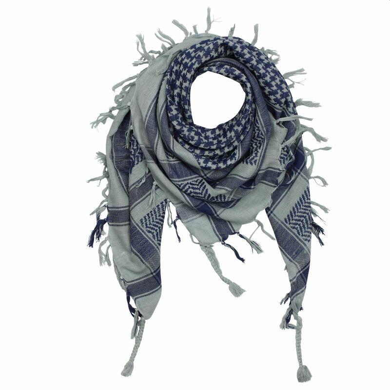 Farbkombinationen Blau Grau: Kufiya PLO Tuch, 9,99