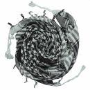 Kufiya - basic woven grey-light grey - black - Shemagh -...