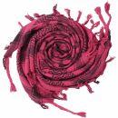 Kufiya - Hearts pink - black - Shemagh - Arafat scarf